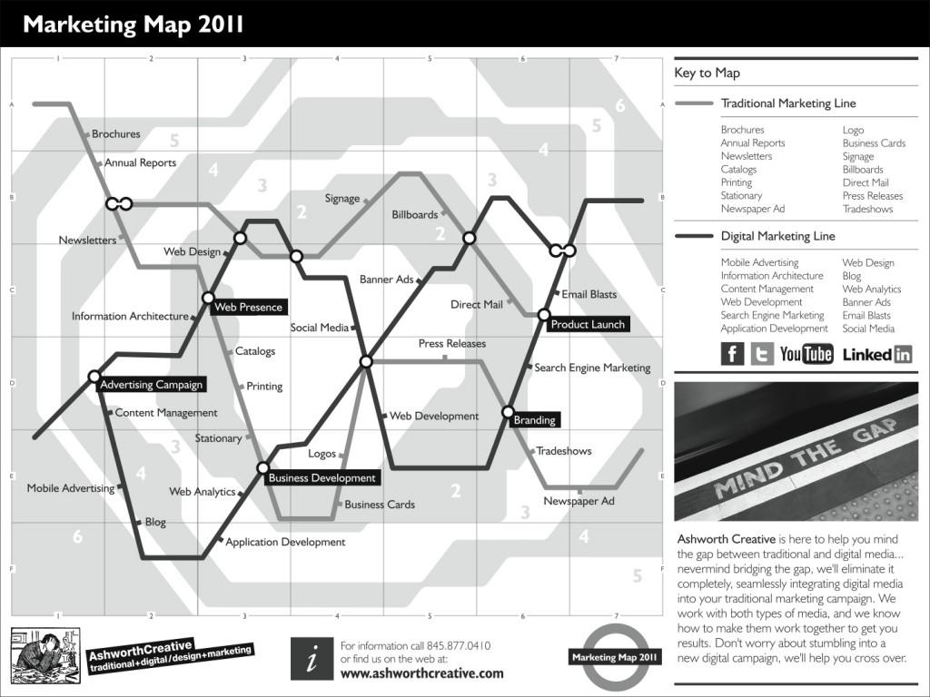 Ashworth Creative Marketing Map 2010